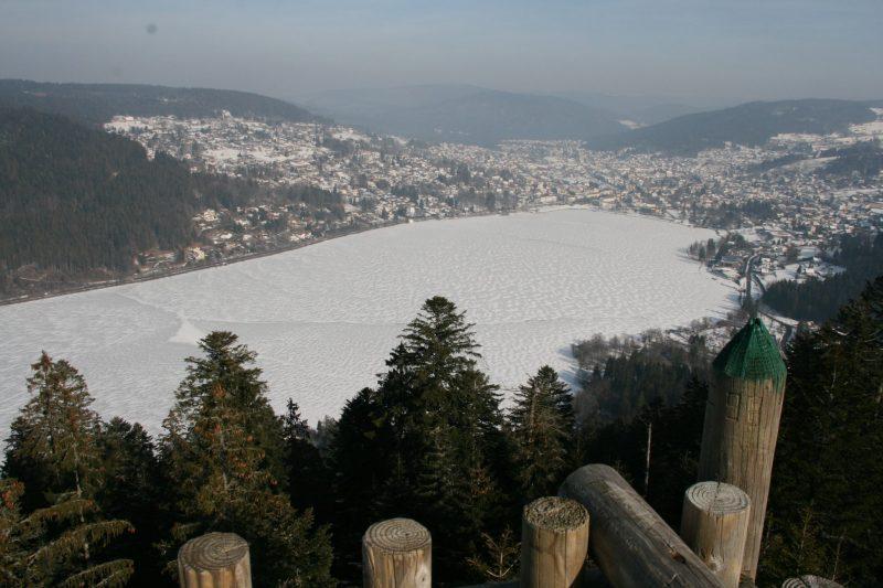 lac gelé à Gerardmer